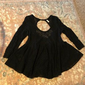 Free People long sleeve lace blouse size large